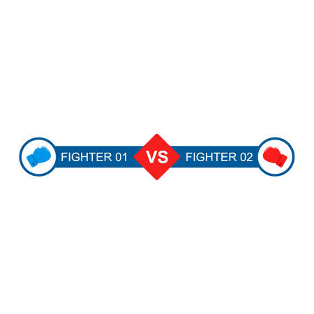 Boxing gloves fight. VS template vector. Versus Battle bar for game 矢量图像