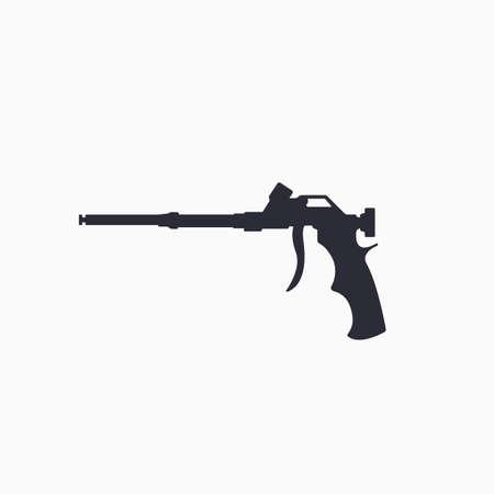 Foam gun icon. Construction tool icon. Gun for household balloon. Vector 向量圖像