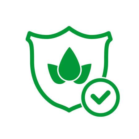 Crop protection icon. Crop insurance concept. Shield line icon. Vector