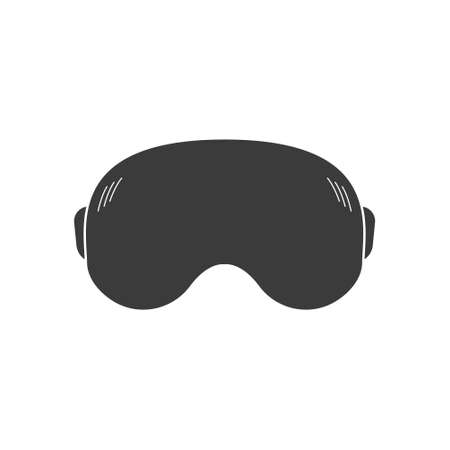 Headset of virtual reality. Vr glasses flat icon. Vr goggles device for computer game. Vector