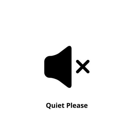 Quiet please icon on white background. Keep silence symbol. Silent mode concept. Vector 免版税图像 - 165513234