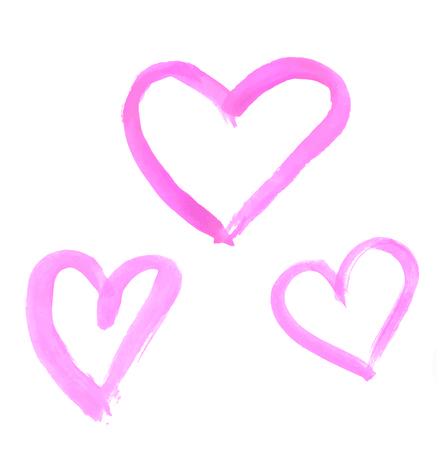 tempera: Watercolor hearts Illustration