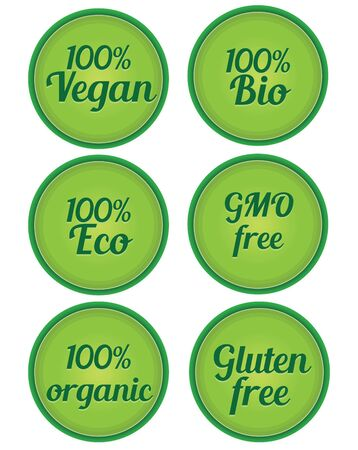modification: vegan organic gmo free Illustration