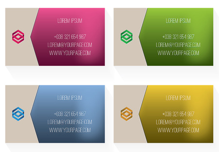 biege: Business card template Illustration