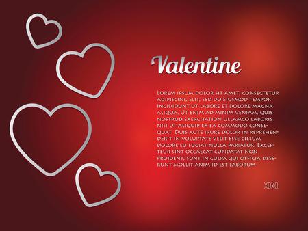 true love: Valentine heart background