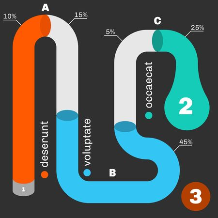 snake bar: Tube timeline infographic template.