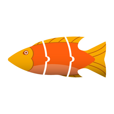 floats: Floating fish into pieces in a puzzle. Floats to the left.