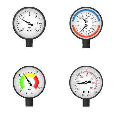 Vector illustration set of manometers. Easy to edit clear and simple. Vector