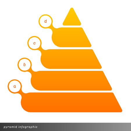 pyramid: Vector pyramid infographic shows growth with gradient fill. Clear and simple template. Illustration