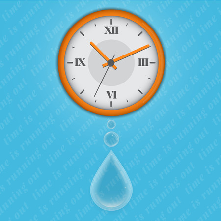 time is running out as water. the analogy with the pendulum