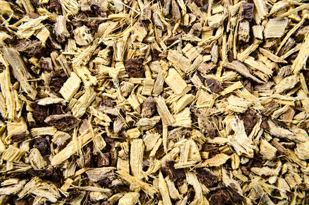 expectorant: Licorice root as an abstract background texture