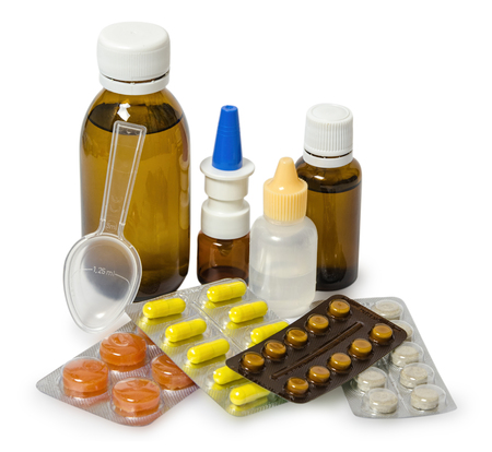 set of medicines for the treatment of various ailments and symptoms.