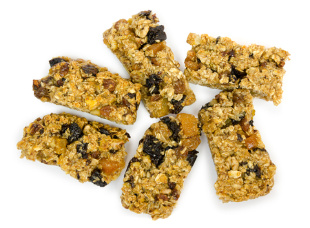 delicious homemade pastries. Granola with organic inhibitors. Concept of healthy food for weight loss Stock Photo