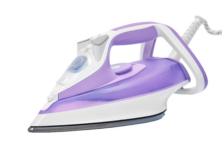 Steam iron isolated on a white background.