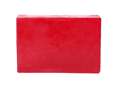 natural soap bar isolated on white background.