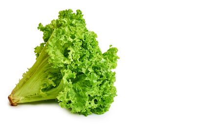 fresh green and raw Lettuce isolated on white background. Stock Photo