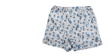 Kid cotton underpants isolated on white background. copy space template. Banque d'images
