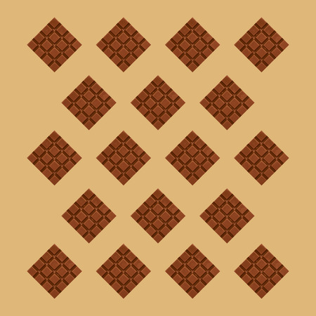 Close up chocolate pieces pattern background photo.