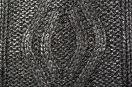 Macro photo of fabric pattern, close up of textile clothing Stock Photo