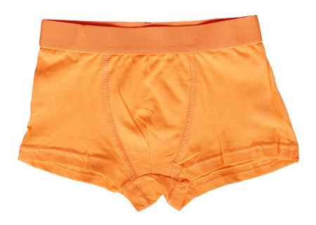 Bright boxer underwear, cotton pants. Isolated on white background