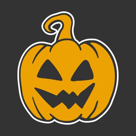 Halloween pumpkin. Vector concept in doodle and sketch style. Hand drawn illustration
