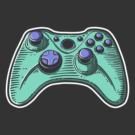 console controller. Vector concept in doodle and sketch style. Hand drawn illustration for printing on T-shirts, postcards. Illustration