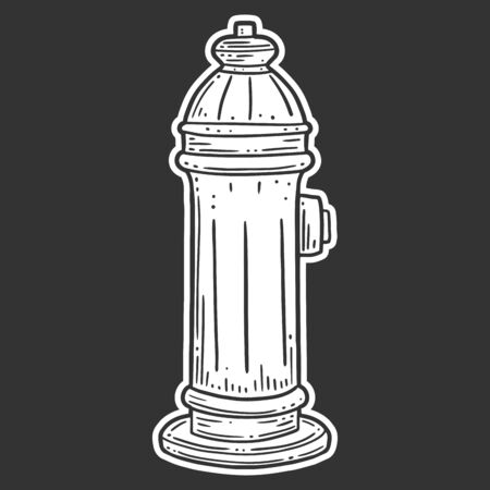 Fire hydrant. Vector concept in doodle and sketch style. Hand drawn illustration for printing on T-shirts, postcards.