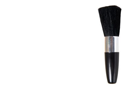 Black eye makeup brush. Isolated on white background. Copy space template. 스톡 콘텐츠