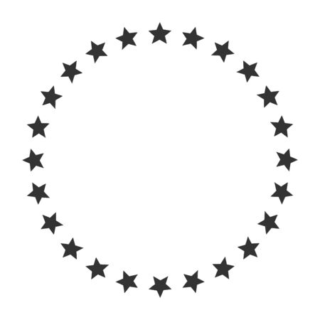 Stars in circle shape icon. Template for award, price, reward. Vector image. Isolated on white background.