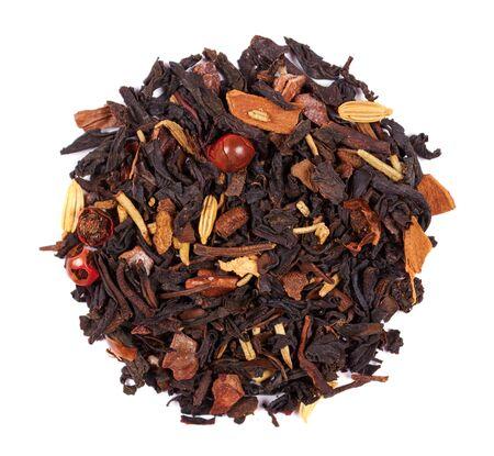 Fruit tea macro photo, herb drink.
