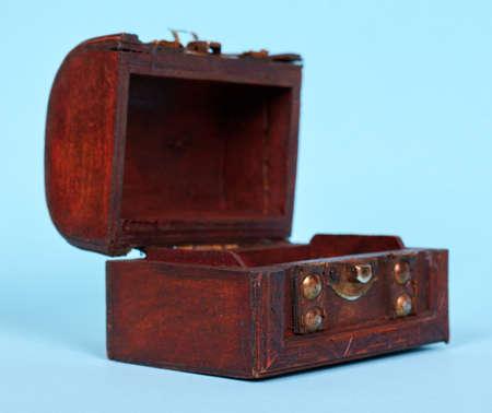 Wooden chest decoration, home casket.