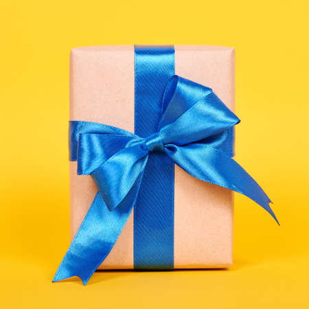 Gift box with ribbon, surprise and present. Stock fotó