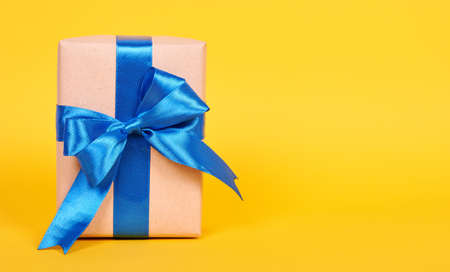 Gift box with ribbon, surprise and present. 스톡 콘텐츠