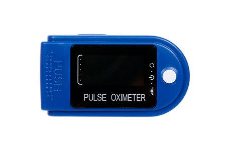Medical oximeter isolated on white. Stock fotó