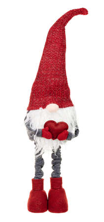 Red christmas gnome isolated on white. Stock fotó