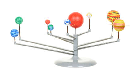 Model of solar system isolated on white 版權商用圖片
