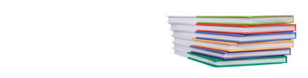 A stack of colored books. High quality photo