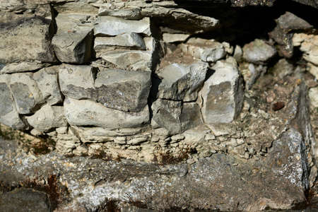 Stone wall background, rock materials. Zdjęcie Seryjne