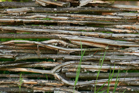 Wooden fence close up background, rustic wall texture. Zdjęcie Seryjne