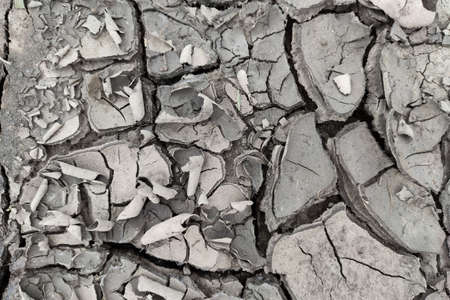 Parched, cracked soil in the hot sun texture.