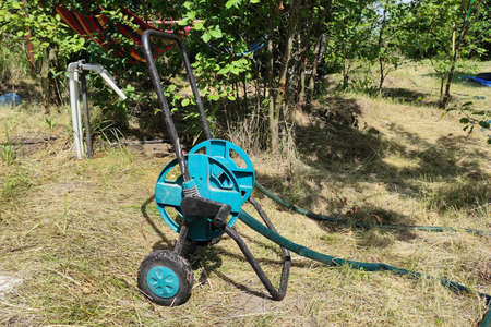 Watering hose roll for gardening, farm Zdjęcie Seryjne