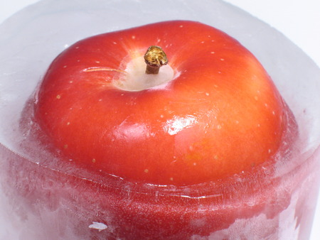 Iced apple photo