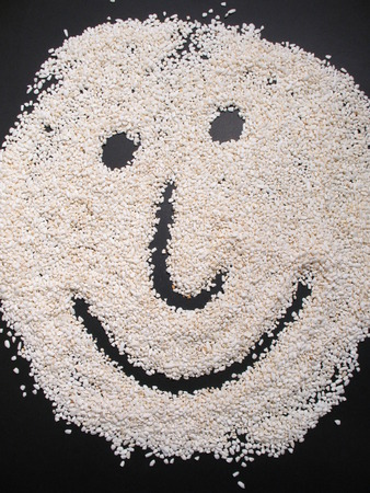 Rice face photo