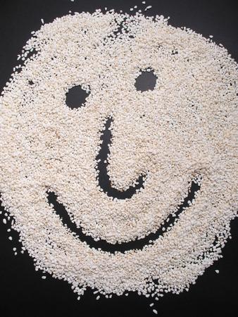 sella: Rice face Stock Photo