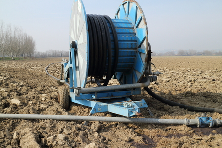 cultivable: Equipment for the manuring of the fields cultivable Stock Photo