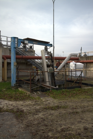 water purification plant: Plant of purification of the water of the city of Deruta in Italy Stock Photo
