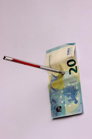 Euro under attack Stock Photo