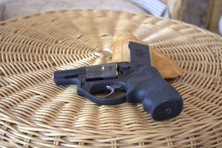 Small revolver for home and self defence Stock Photo