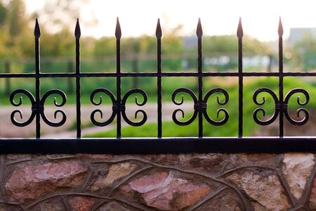 Picket Fence. Sunlight morning. Selective focus. Stock Photo - 5465911