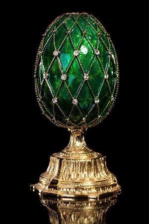Faberge egg. Isolated on black. Stock Photo